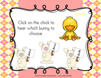 Spring Meter - An AURAL Time Signature Game for 2/4, 3/4 and 4/4