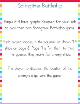 Spring Middle School Fun Pack