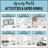 Spring Middle School Math Activities & Games BUNDLE
