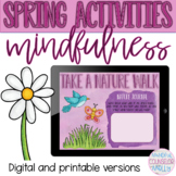 Spring Mindfulness Activities, Digital & Printable Versions