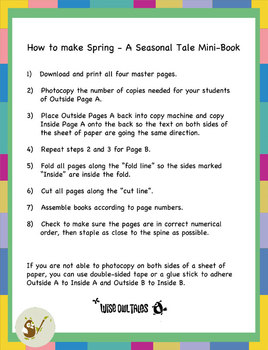 Spring Mini Book - A Seasonal Tale