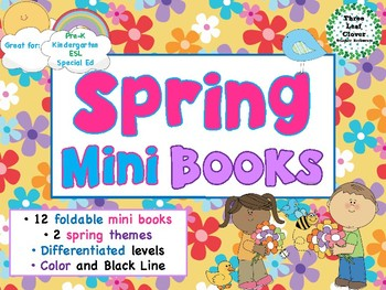 Spring Mini Books - ESL/ENL, Special Needs, Young Learners