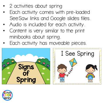 Spring Mini Books and Printables - Bundle