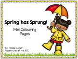 Spring Mini Colouring Sheets