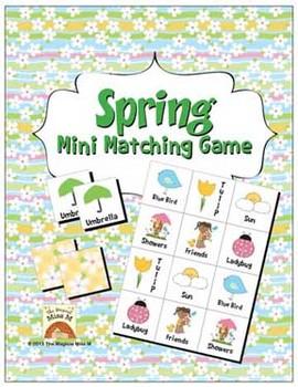 Spring Mini Matching Game Freebie