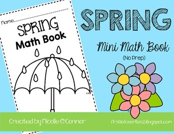 Spring Mini Math Book (No Prep)