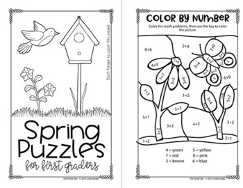 Spring Mini Puzzle Book BUNDLE for K-5