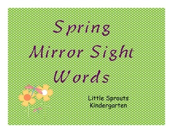 Spring Mirror Sight Words