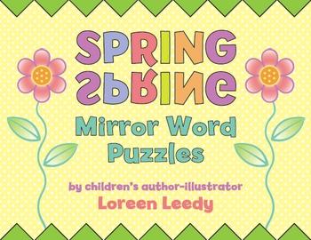 Spring Mirror Word Puzzles