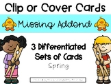 Spring Missing Addend Clip or Cover Cards
