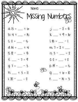 Spring Missing Numbers