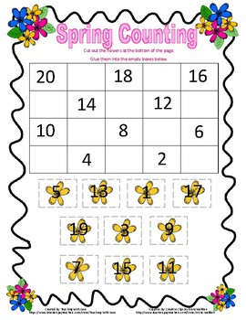 Spring Missing Numbers Backwards from 20 - Difficult
