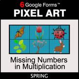 Spring: Missing Numbers in Multiplication - Pixel Art Math