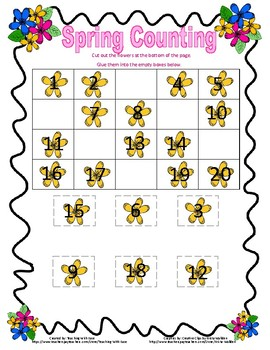 Spring Missing Numbers to 20!