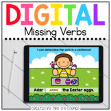 Spring Missing Verbs Digital Activity | Distance Learning