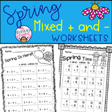 Spring Mixed Addition and Subtraction