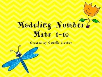 Spring Modeling Dough Number Mats 1-10