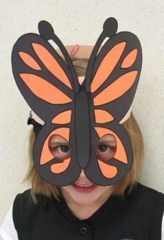 Spring Monarch Butterfly Sentence Strip Hat Mask