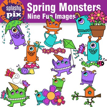 Spring Monster Clipart