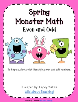 Spring Monster Math-Even and Odd