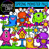 Spring Monster Pals: Spring Clipart {Creative Clips Clipart}