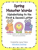Spring Monster Words-Alphabetizing to the 1st and 2nd Letter