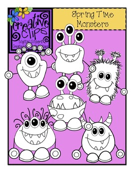 Spring Monsters {Creative Clips Digital Clipart}