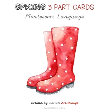 Spring Montessori 3 Part Cards