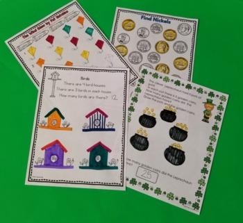 Kindergarten -Special Education -Daily Math Journals Spring Bundle