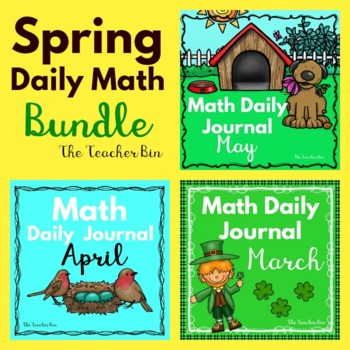 Kindergarten -Special Education -Spring Daily Math Journals