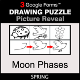 Spring: Moon Phases - Drawing Puzzle   Google Forms