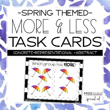 Spring More & Less Task Cards
