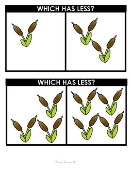 Spring More and Less Than Cards