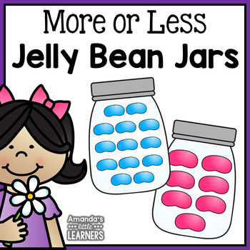 Spring More or Less Jellybean Jars