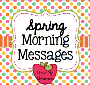 Spring Morning Messages {Community Building Prompts}