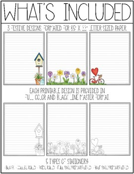 Spring & Mother's Day Stationery Printable Pack