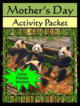 Mother's Day Science Activity Packet: Mother's Day Spring Activity Packet