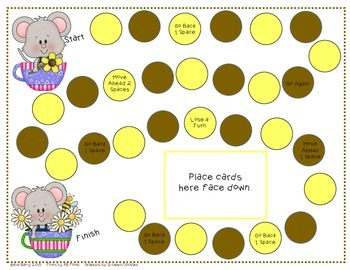 Game Boards - Addition and Subtraction Practice - Spring Mouse Edition