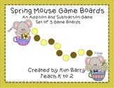 Game Boards - Addition and Subtraction Practice - Spring M