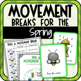 Spring Movement Break Cards