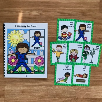 """Spring Movement Cards (And Book!):  """"Moving Through Spring"""""""