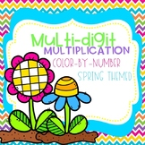 Spring Multi-Digit Multiplication Color-By-Number