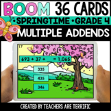 Multiple Addends Spring Boom Cards Gr. 4 | Distance Learning