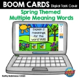 Spring Multiple Meaning Words Boom Cards