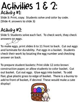 Spring Multiplication Activities