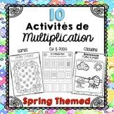 Spring Multiplication/Activités de multiplication