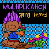 Spring Multiplication Color-By-Number 2-12