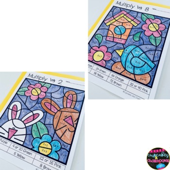 #springintosavings  Spring Multiplication Color By Number ~ 2's to 9's