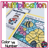 Printable Multiplication Facts Color By Number Worksheets  Spring Coloring Pages