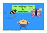 Spring Multiplication Connect 4 Flip It FREEBIE